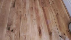 "Custom oak ""butterflies"" floor"