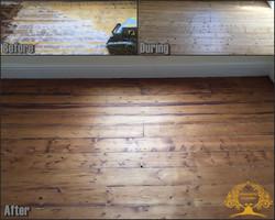 Pine flooring restoration