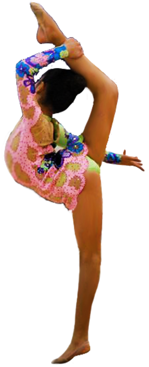 Ring balance rhythmic gymnastics