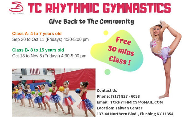 TC Rhythmics rhythmic gymnastics classes Queens Forest Hills Flushing Little Neck New York