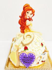 美女と野獣のベル ドレスケーキ