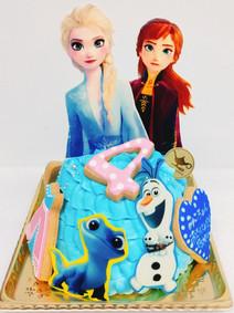 アナと雪の女王2ドレスケーキ
