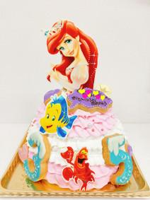 アリエルのドレスバージョンケーキ