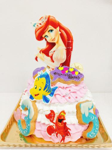 アリエルのドレスケーキ♡