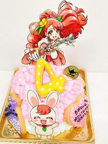 プリキュアドレスケーキ