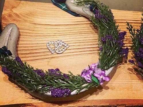 Heather embellished horseshoe