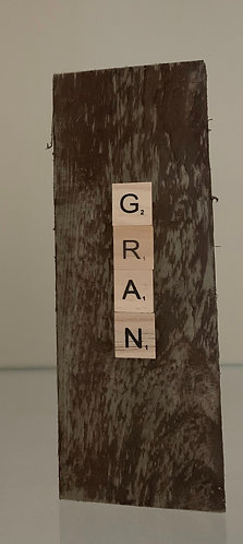 Gran scrabble letter large tea light pillar