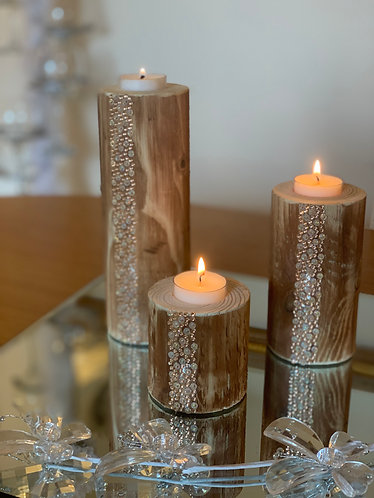 Waterfall Rustic Pillar Trio