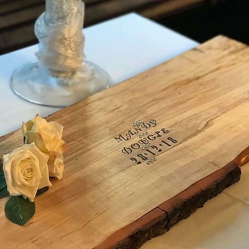 Rustic Bark Edged Guest Book