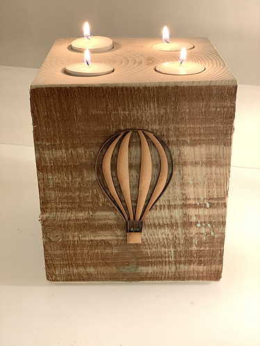 Extra Large Rustic Hot Air Balloon 4 Tealight Holder