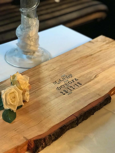 Bark Edged Wooden Personalised Guest Book