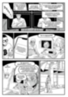 "Авторский комикс в стиле манга ""Звукобог"". Стр.3"