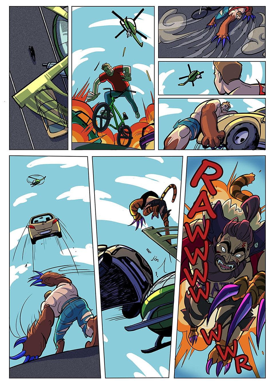 Авторский комикс на заказ. Человек - медведь. Страница 8