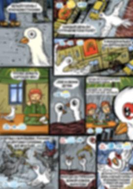 Фрагмент корпоративного комикса - прогноз погоды.