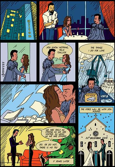 Авторский комикс о свадьбе на заказ