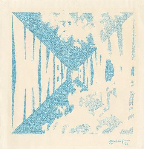 "Советский нонконформизм. Эрик Булатов. Картина ""Живу - Вижу"". 1986"