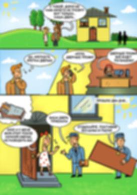 """Рекламный комикс для фирмы """"Дверные Профи"""""""