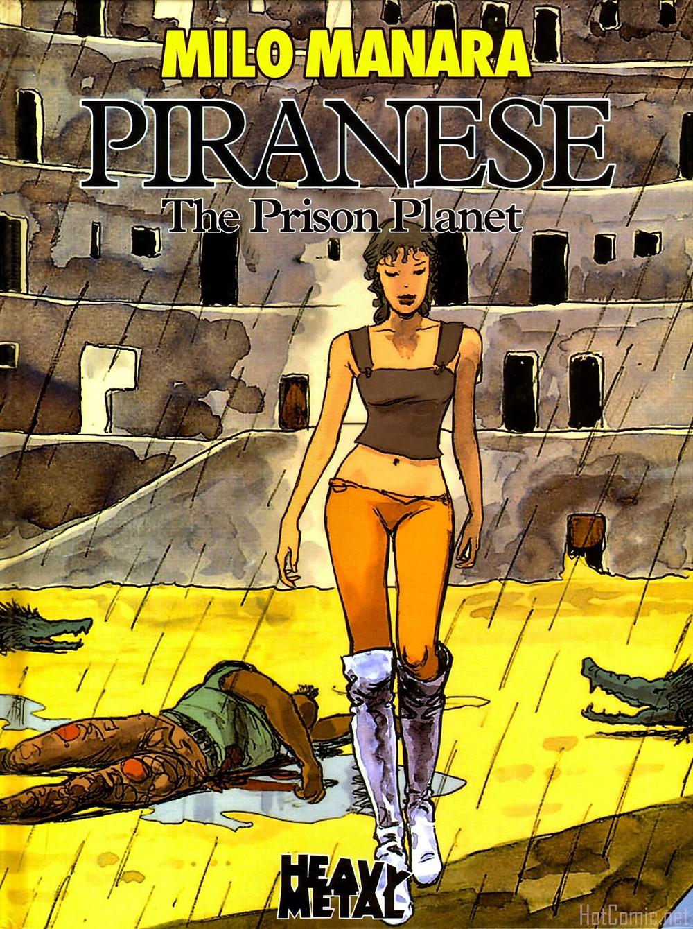 """Комикс """"Пиранезе тюремная планета. Маурилио Манара. Эротический комикс."""