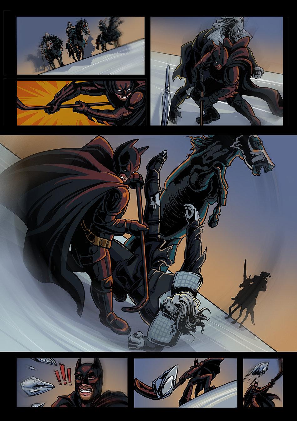 Авторский комикс другу на заказ. Бэтмен. Страница 6