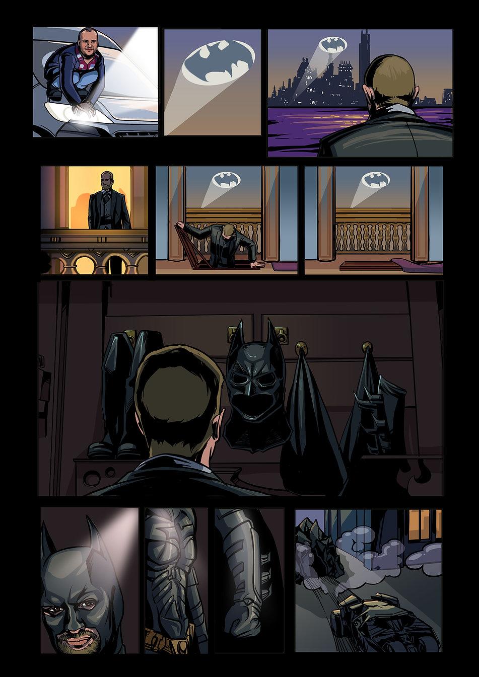 Авторский комикс другу на заказ. Бэтмен. Страница 4