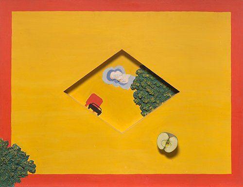 """Советский нонконформизм. Иван Чуйков, картина """"Дорожный знак"""". 1972"""