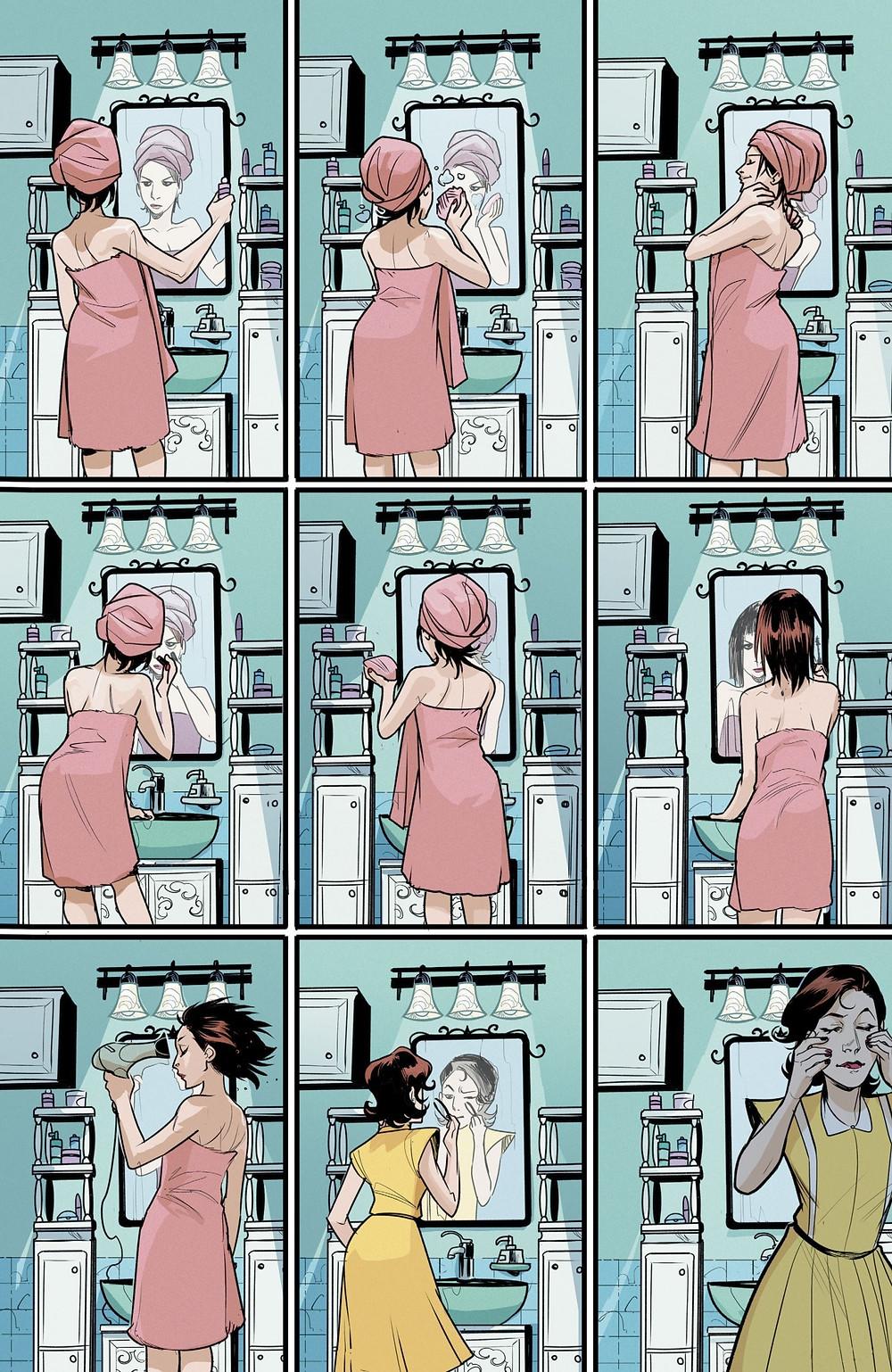 """Фантастический комикс о семейных отношениях """"Моя жена ведьма"""" Hex Wives. Страница 13"""