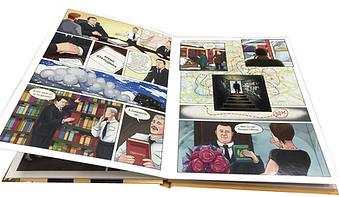 Печать комиксов в иде книги в твердом переплете
