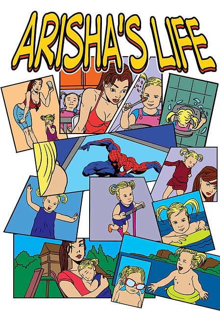 Авторский комикс на заказ. Жизнь Ариши. Обложка