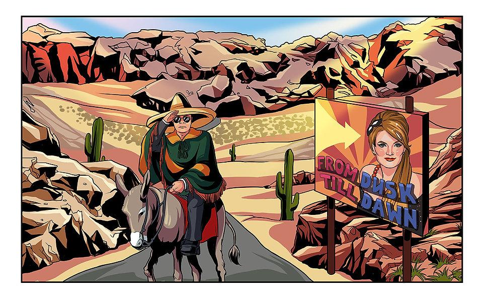 Авторский комикс на заказ. Однажды в Мексике. с9