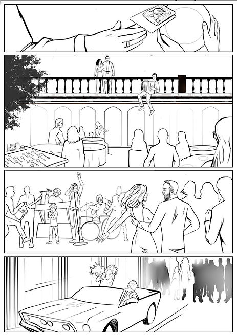 Эскиз комикса с детализацией. Пример 2. Авторские комиксы на заказ.