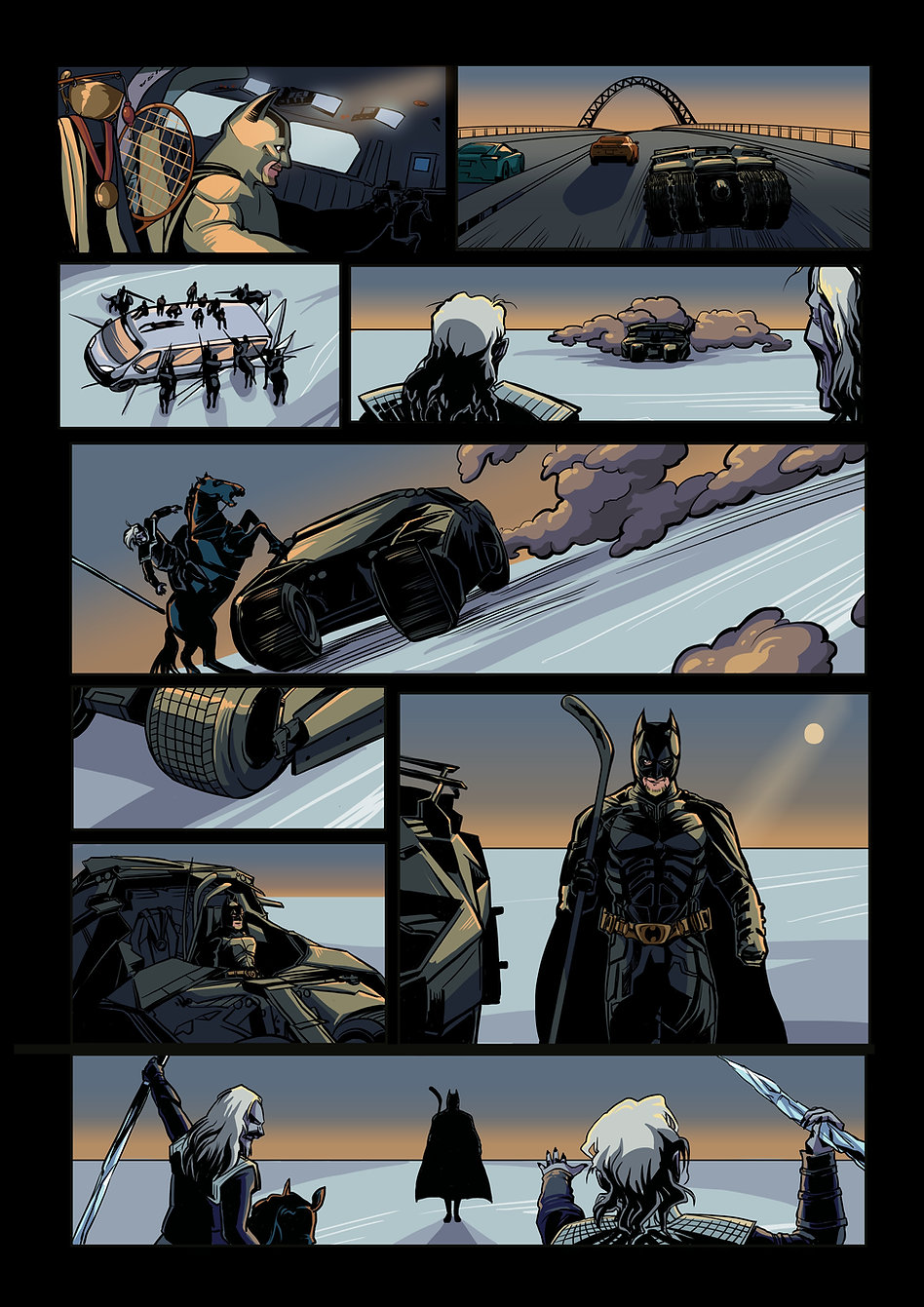 Авторский комикс другу на заказ. Бэтмен. Страница 5