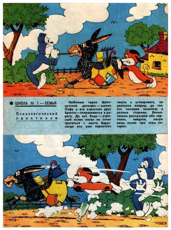 Комиксы в СССР. Журнал Наука и Жизнь. Похождения Пиффа.