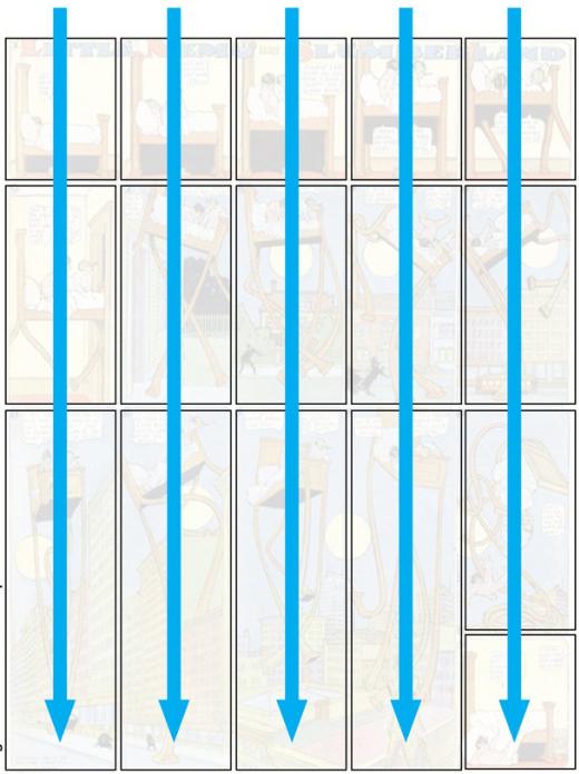 Схема чтения комикса 3