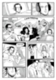 "Авторский комикс в стиле манга ""Звукобог"". Стр.1"
