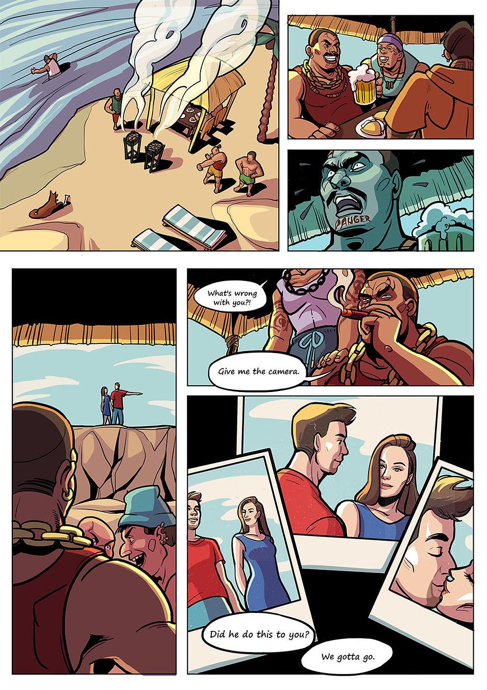 Авторский комикс на заказ. Человек - медведь. Страница 6