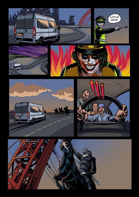 """Авторский комикс """"Бэтмен против ходаков"""", нарисованный на заказ в подарок другу."""