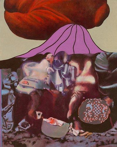 "Советский нонконформизм. Юрий Дышленко Картина ""101-й вид Фудзи"". 1980"