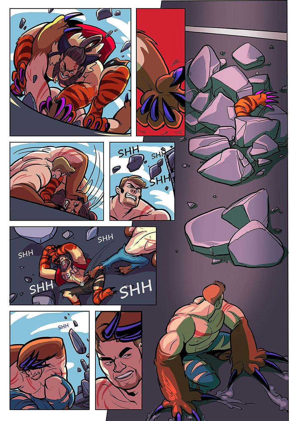 Авторский комикс на заказ. Человек - медведь. Страница 9