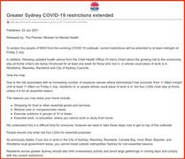 COVID-19 UPDATE: 25th June 2021