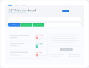 filing status dashboard in cleartax