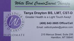 White Bird Craniosacral Therapy