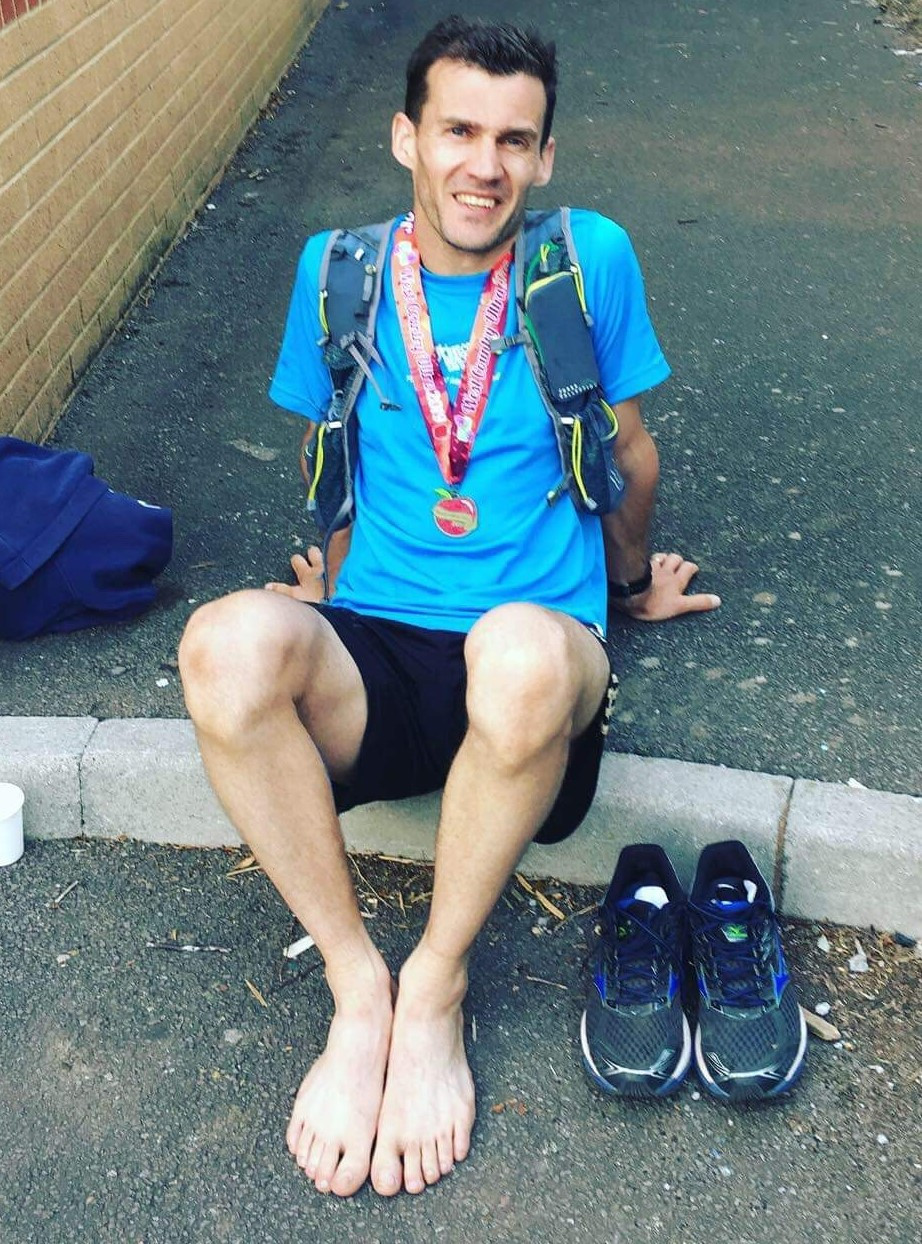 """Rob after the West Country ultra - """"only 50 miles"""""""