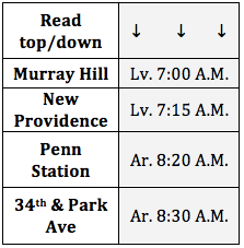 Murray Hill-New Providence Midtown Bus