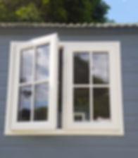 Shepherd Hut Open Window