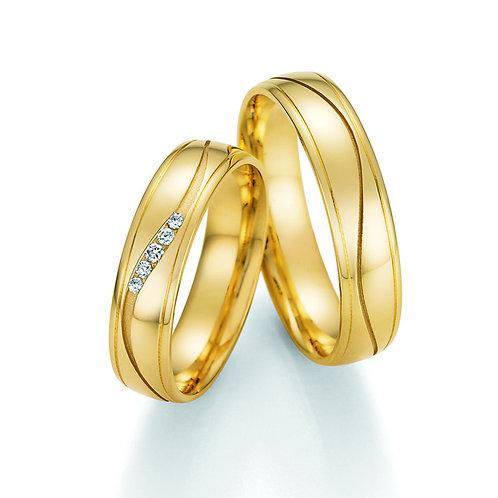 Hochzeitsringe Gold oder Weißgold mit Brillant