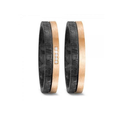 Ring Eheringe Verlobungsringe Trauringe Hochzeitsringe Diamant Bronze Carbon