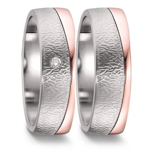Ringe aus Titan/750 Gold mit Brillanten