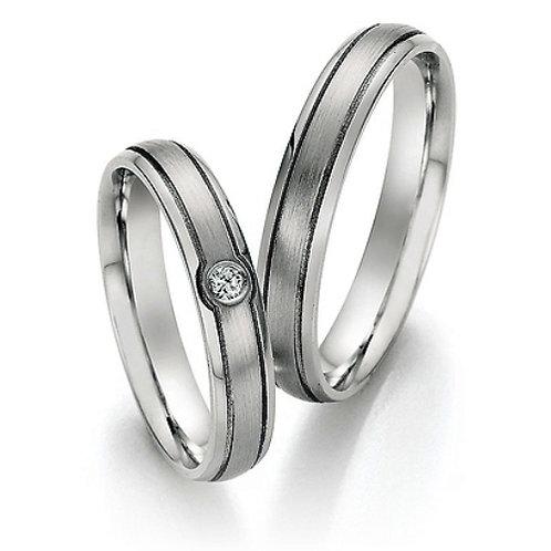 Eheringe Verlobungsringe aus Steel 316L mit Diamant