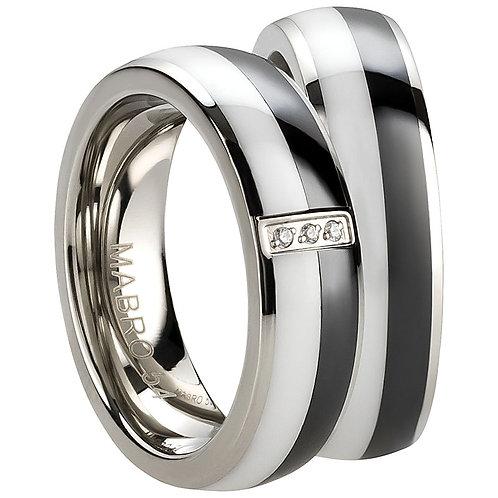 Paar Ring Freundschaftsringe Partnerringe Verlobungsringe Edelstahl/Ceramic