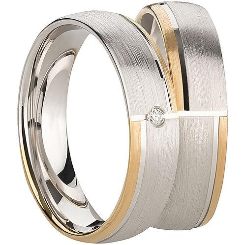 Eheringe 925 Silber mit Diamant